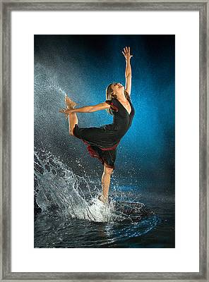 Dancing In The Rain Framed Print by Adam Chilson