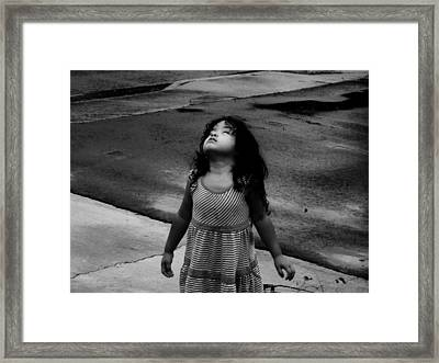 Framed Print featuring the photograph Dancing In The Rain  by Jessica Shelton