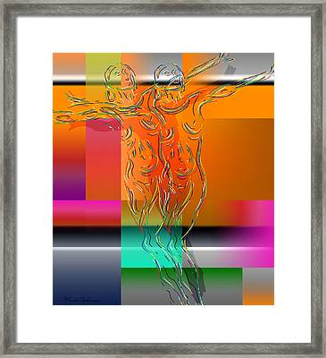 Dancing In The Rain Framed Print by Mark Ashkenazi