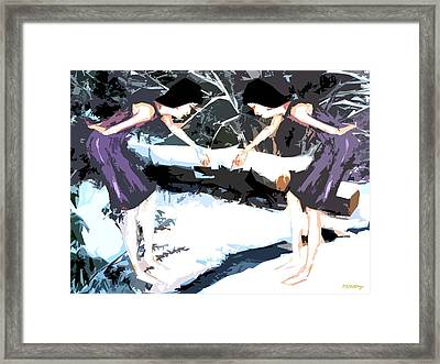 Dancing In The Snow Framed Print by Patrick J Murphy