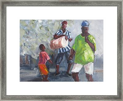 Dancing In The Street Eleuthera Framed Print by Susan Richardson