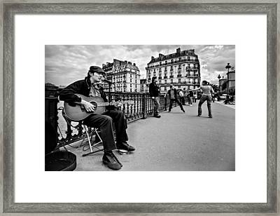 Framed Print featuring the photograph Dancing In The Streets Of Paris / Paris by Barry O Carroll