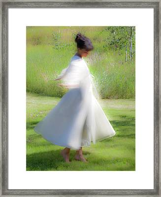 Dancing In The Sun Framed Print by Theresa Tahara