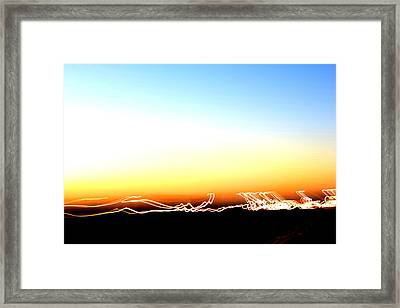 Dancing In The Sunlight Framed Print