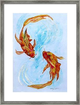 Dancing Koi Sold Framed Print