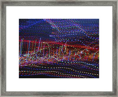 Dancing Lights 2 Framed Print