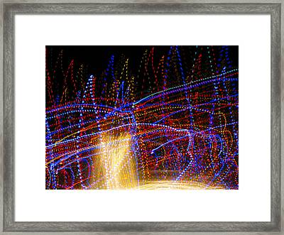 Dancing Lights 6 Framed Print