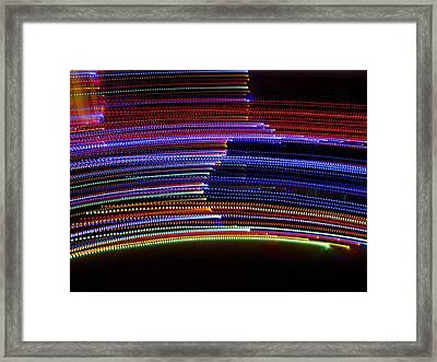Dancing Lights 8 Framed Print