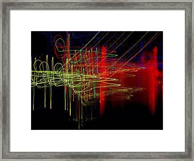 Dancing Lights 9 Framed Print