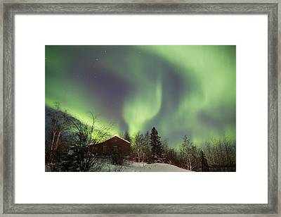 Dancing Lights Framed Print by Craig Brown
