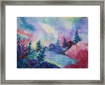 Dancing Lights II Framed Print by Ellen Levinson