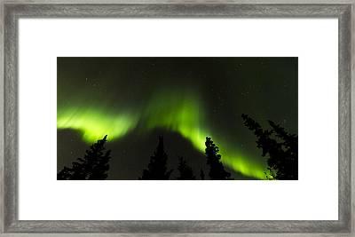 Dancing Lights Framed Print by Kyle Lavey