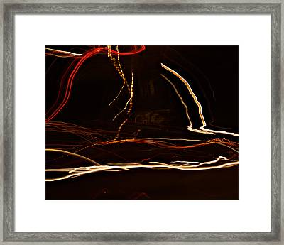 La-405 Dancing Lights Framed Print