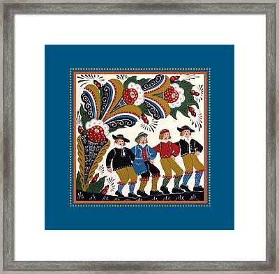 Dancing Men I Framed Print by Leif Sodergren