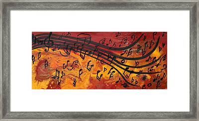 Dancing Musical Notes Framed Print