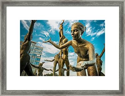 Musica - Dancing Naked Statue Framed Print
