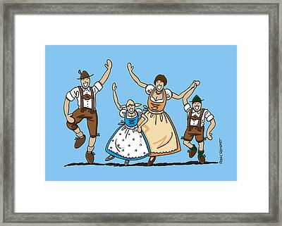Dancing Oktoberfest Family Framed Print by Frank Ramspott