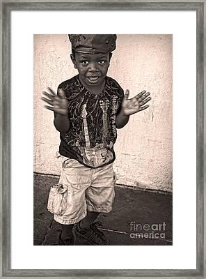 Dancing' On Decatur For Dollars Framed Print by Kathleen K Parker