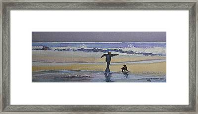 Dancing On The Beach Framed Print