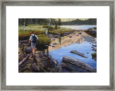 Dancing On The Keyboards Framed Print by Mary Giacomini