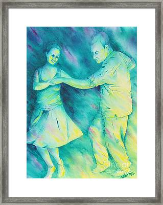 Dancing On The Plaza Framed Print
