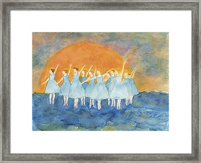 Dancing On Top Of The Sea Framed Print