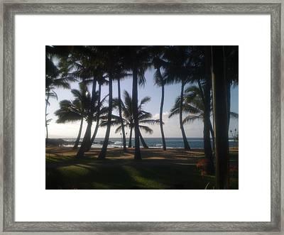Dancing Palm Trees Framed Print