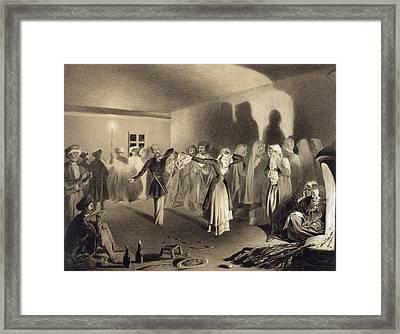 Dancing Party At Kagha-choura Framed Print by Grigori Grigorevich Gagarin