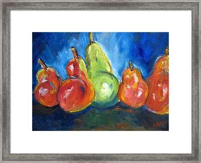 Dancing Pears Framed Print by Stephanie Allison