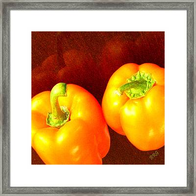 Dancing Peppers Framed Print by Ben and Raisa Gertsberg