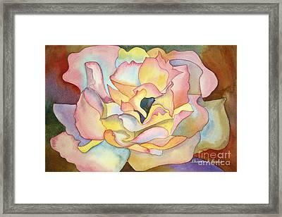 Dancing Petals Framed Print by Shirin Shahram Badie