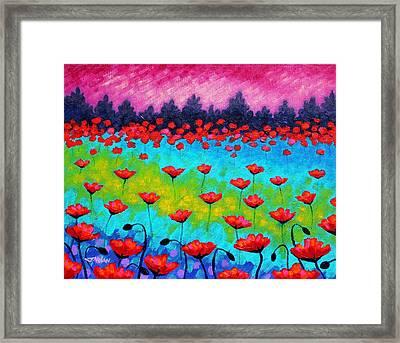 Dancing Poppies Framed Print