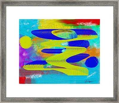 Dancing Ribbons Framed Print