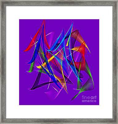 Dancing Satins Framed Print by Gayle Price Thomas