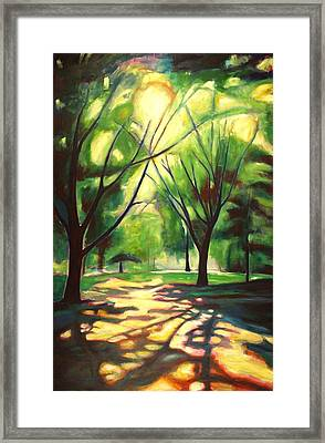 Dancing Shadows Framed Print by Sheila Diemert