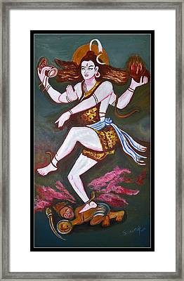 Dancing Siva  Framed Print by Anand Swaroop Manchiraju