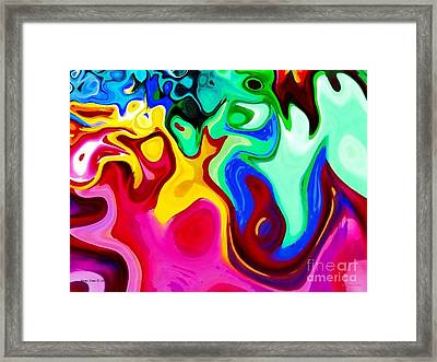 Framed Print featuring the digital art Dancing Spirits  by Annie Zeno