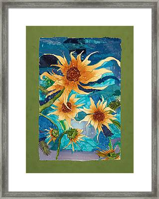 Dancing Sunflowers Framed Print