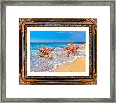 Dancing To The Beat Of The Sea Framed Print by Betsy Knapp