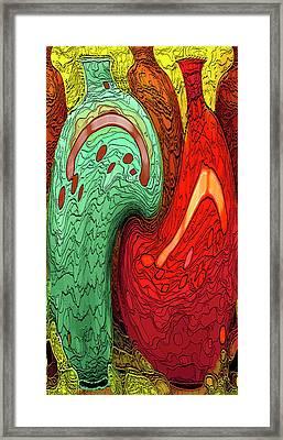 Dancing Vases Framed Print by Ben and Raisa Gertsberg