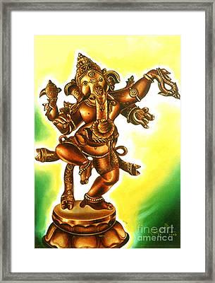 Dancing Vinayaga Framed Print
