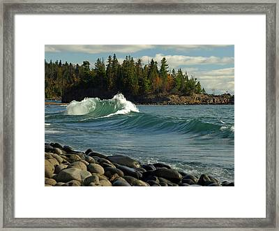 Dancing Waves Framed Print