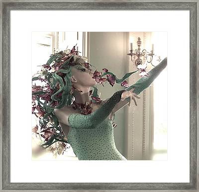 Dancing With Butterflies Framed Print