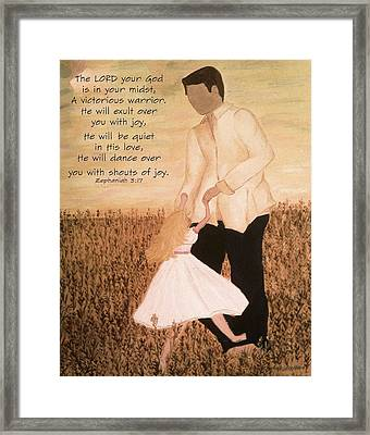 Dancing With Daddy Framed Print by Michelle Bentham
