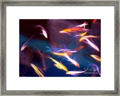 Dancing With Koi Framed Print