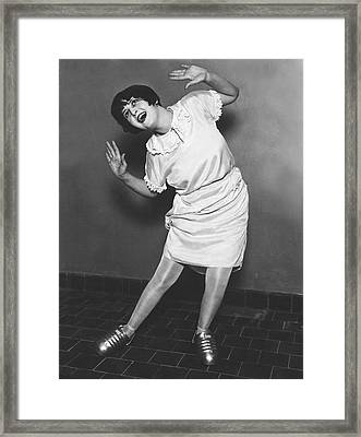 Dancing With Steel Shoes Framed Print by Underwood Archives