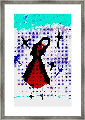 Framed Print featuring the photograph Dancing With The Birds by Jessica Shelton