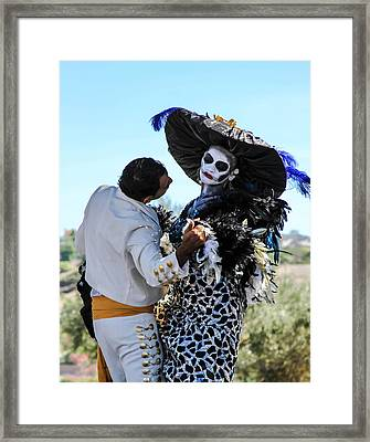 Dancing With The Death Framed Print by Menachem Ganon