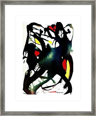 Dancing With The Shadow Framed Print
