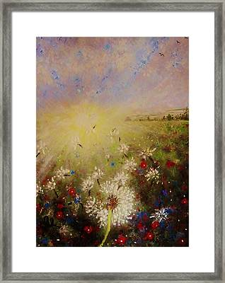 Dancing With The Sun... Framed Print